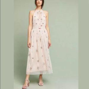 Anthropologie Chan Luu Amiens Beaded Maxi Dress S
